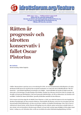 Pistorius kan fa tavla i vm