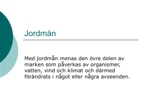 Jordmån - Science