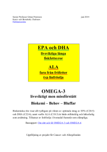 EPA och DHA - Chalmers Publication Library