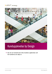 Kundupplevelse by Design