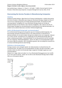 Overcoming the Service Paradox in Manufacturing Companies