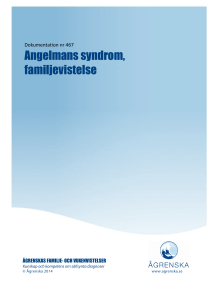 Angelmans syndrom, familjevistelse