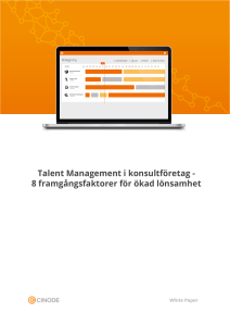 Talent Management i konsultföretag