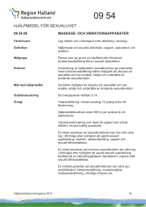 09 54 09 Massage- och vibrationsapparater