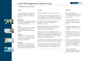 Cash Management Optimering