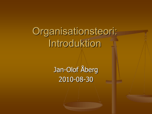 Organisationsteori: Bilder Introduktion