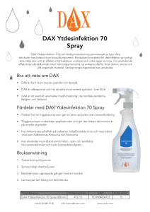 DAX Ytdesinfektion 70 Spray