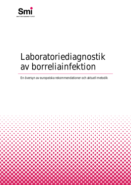 Laboratoriediagnostik av borreliainfektion