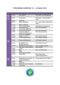 PROGRAM VÅRSOM 21 – 24 MAJ 2014