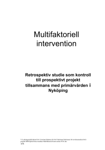 Multifaktoriell intervention
