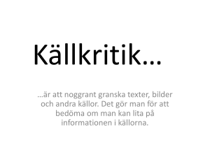 Källkritik - WordPress.com