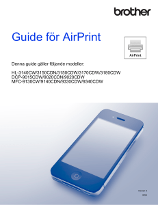 Guide för AirPrint