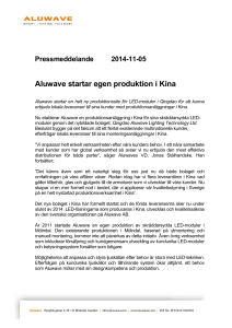 Aluwave pressrelease 5 november 2014
