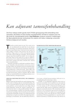 antihormonell behandling biverkningar