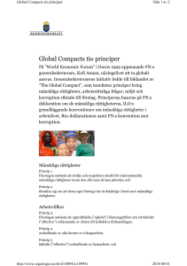 Global Compacts tio principer