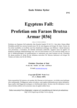 Egyptens Fall [036] - Christian Churches of God