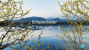 AC International - Region Västerbotten