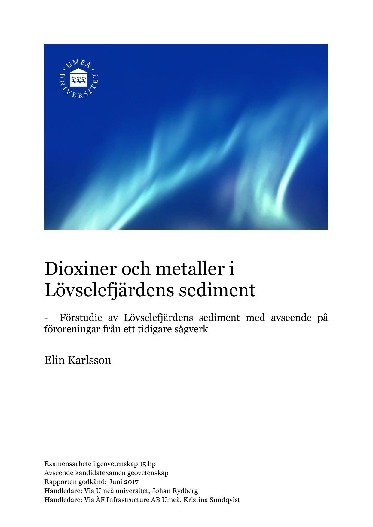 Dioxin upptackt vid sagverk