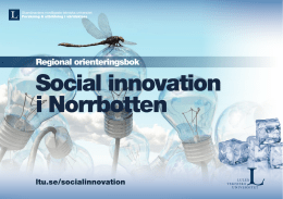Social innovation i Norrbotten