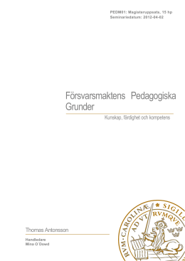 Uppsatsens titel - Lund University Publications