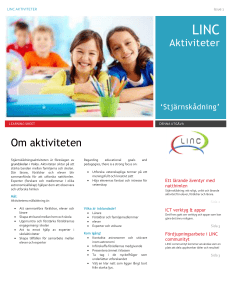 Om aktiviteten - The LINC Project
