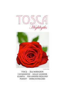 Tosca highlights utskick