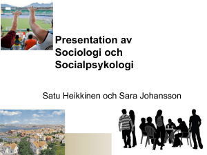 Sociologi I, 30 hp - Karlstads universitet