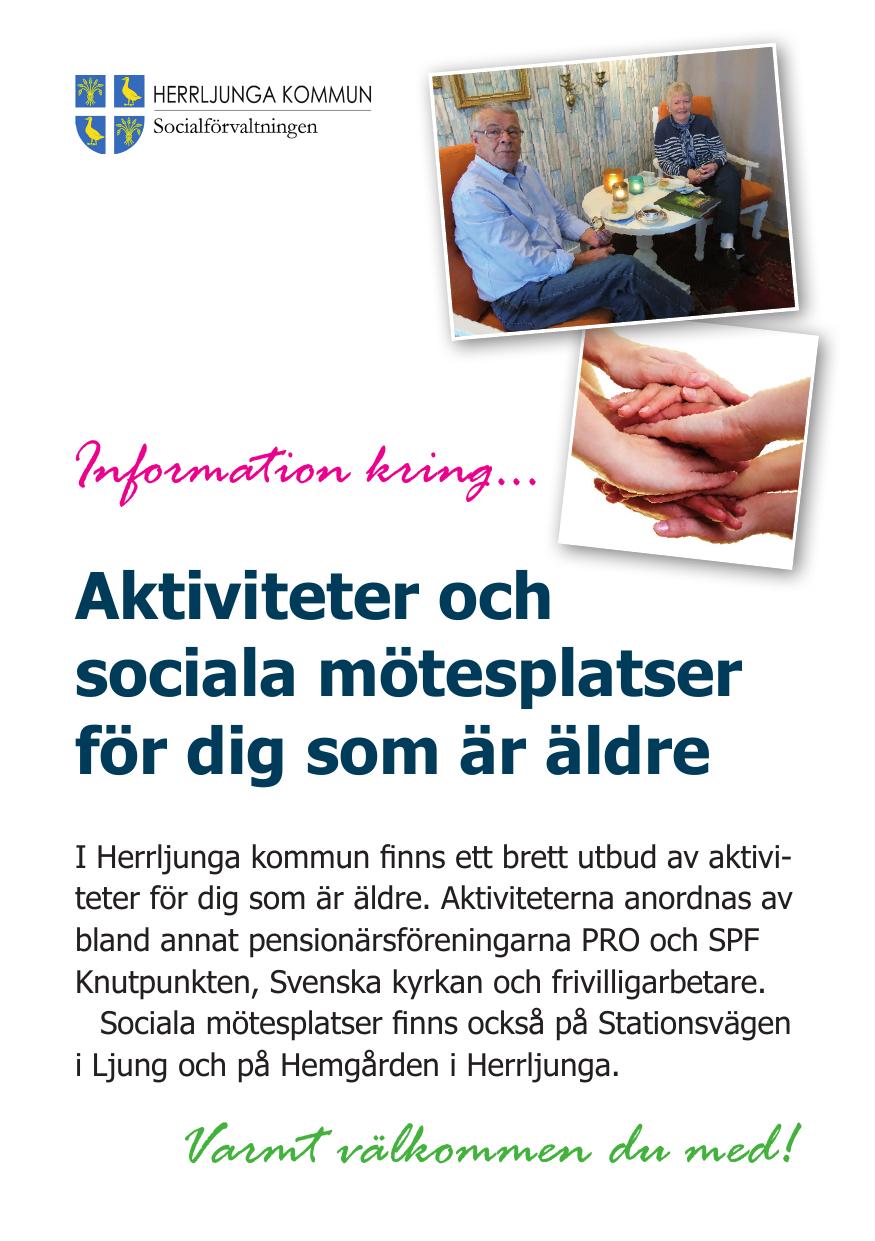 Aktiviteter och verksamhet fr ldre - Herrljunga kommun