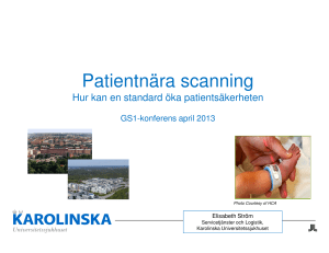 Patientnära scanning