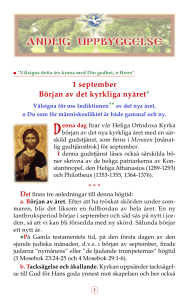 September 1: Beginning of the New Ecclesiastical Year