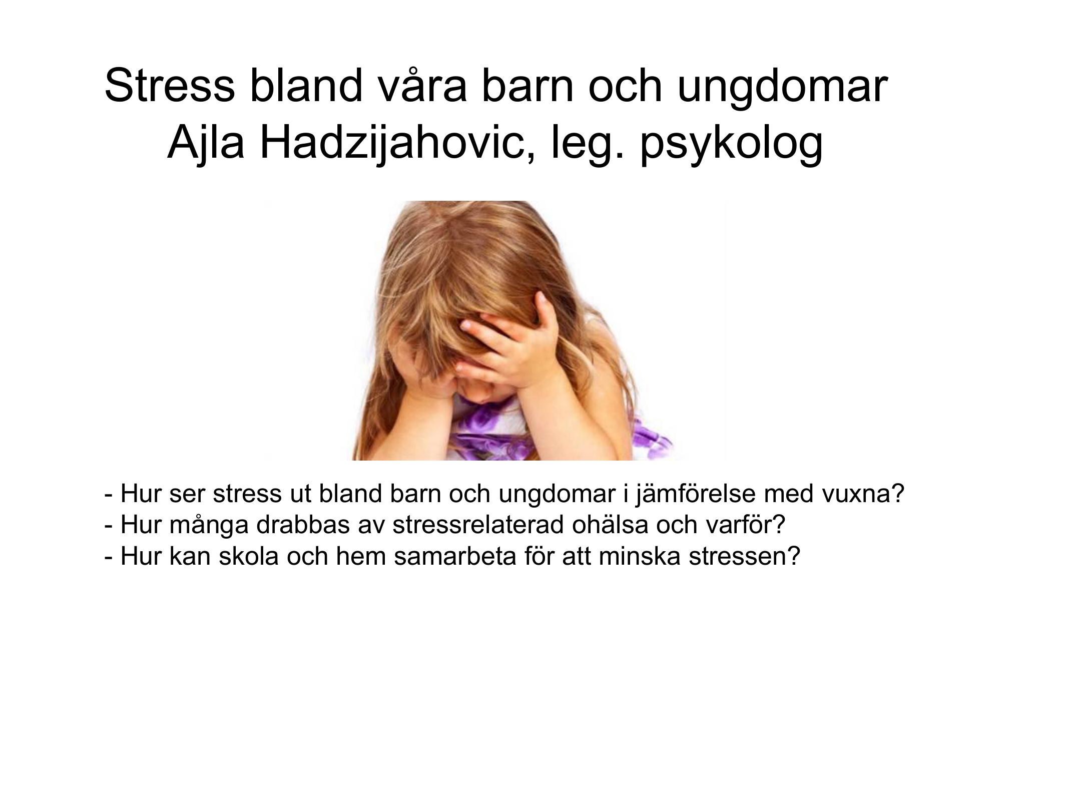 stress bland unga