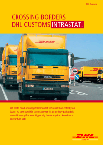 CROSSING BORDERS DHL CUSTOMS INTRASTAT.