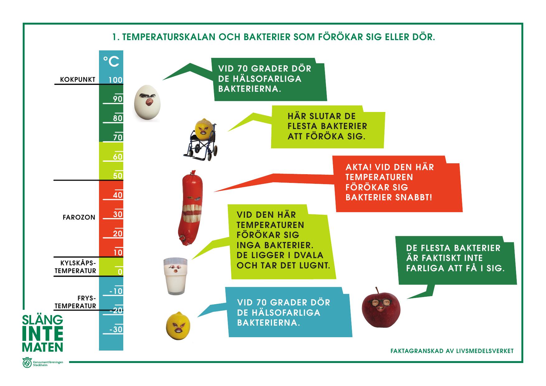 vilken temperatur dör bakterier