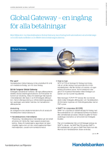 Global Gateway - Handelsbanken