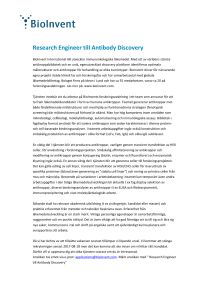 Research Engineer till Antibody Discovery
