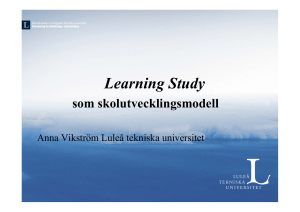 Learning Study - Luleå tekniska universitet