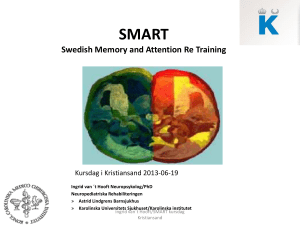 SMART Swedish Memory and Attention Re Training