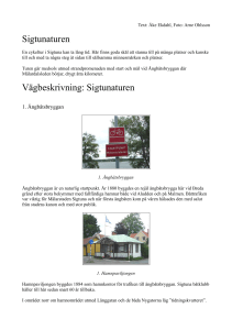 Sigtunaturen Vägbeskrivning: Sigtunaturen