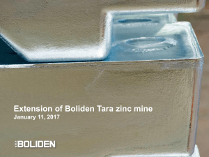 Extension of Boliden Tara zinc mine