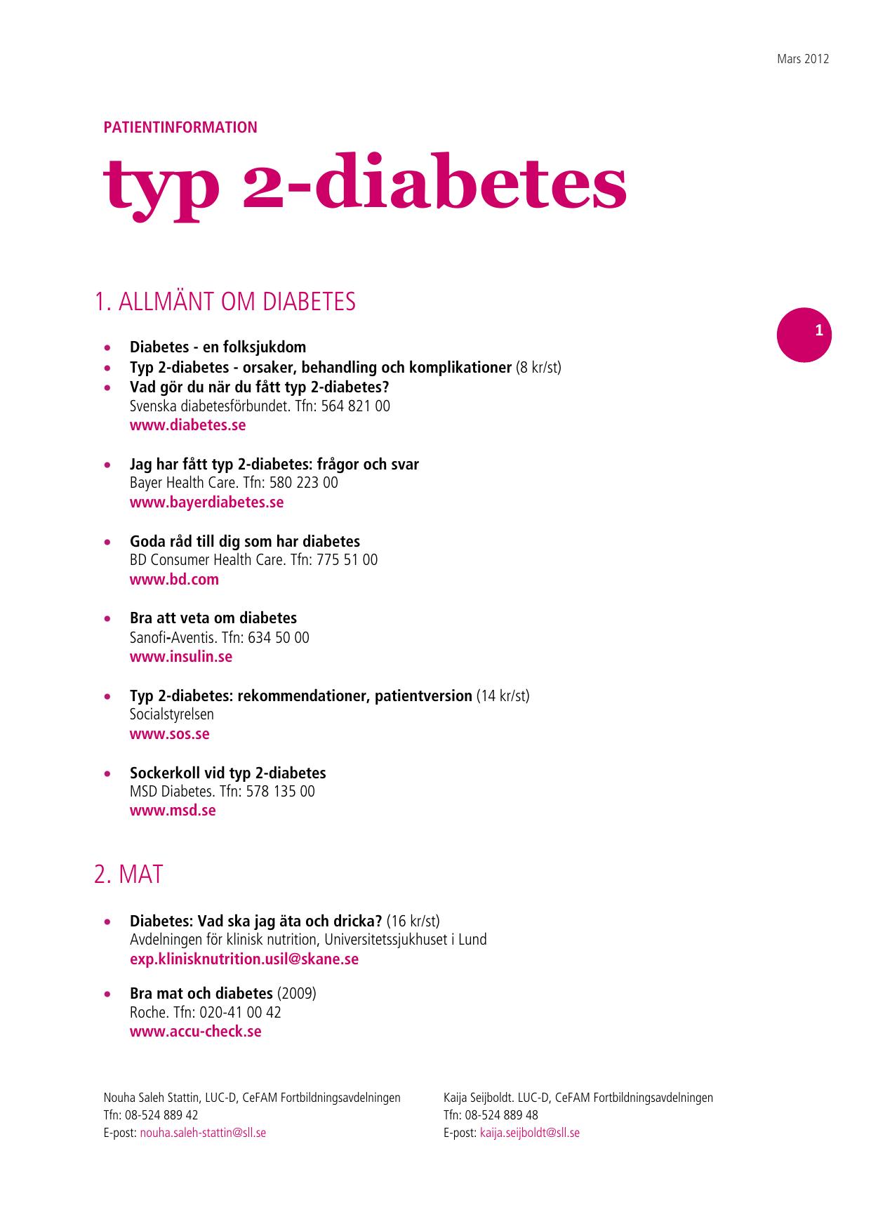 diabetes 2 orsak
