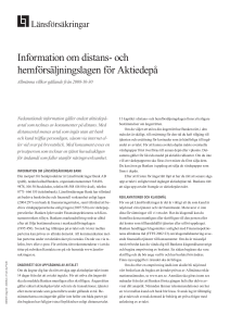 Information om distans- och