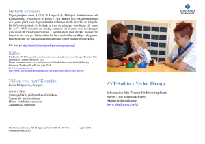 AVT-Auditory Verbal Therapy