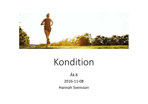 Kondition Åk 8