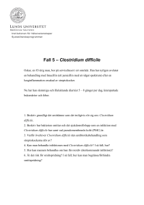 Fall 5 - Clostridium difficile