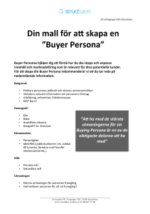 Mall för Buyer Persona