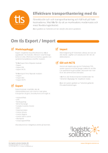 Om tls Export / Import - the logistic solution Sweden AB