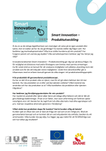 Smart Innovation – Produktutveckling