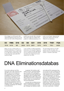 DNA Eliminationsdatabas