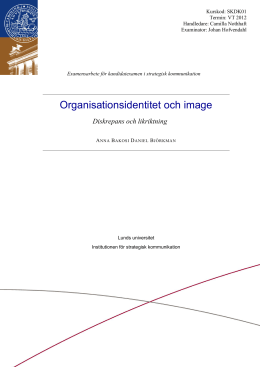 Organisationsidentitet och image