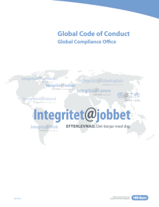 Global Code of Conduct - Hill-Rom